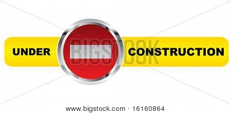 under construction banner image illustration