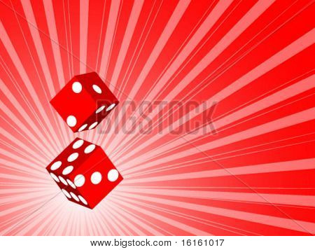 two 3d dice - vector illustration