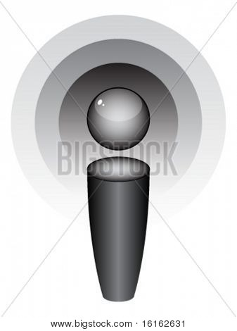 vector illustration of podcast icon
