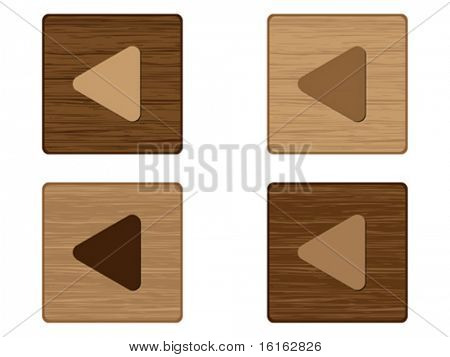 Play buttons wooden texture