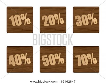 discount stickers wooden textures