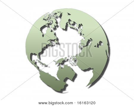 globo del mundo transparente