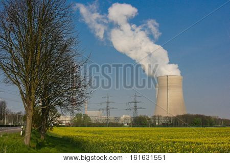 Cooling Tower Nuclear Poer Plant