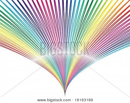 Abstract background colorful deflate