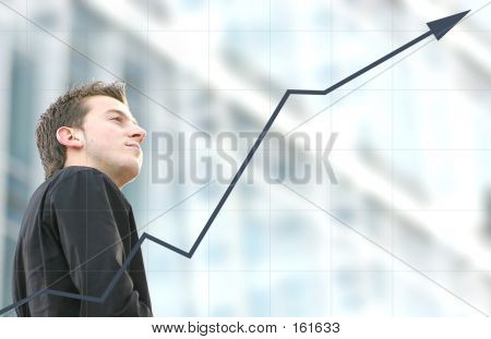 Mann Geschäftserfolg - Aris-Graph