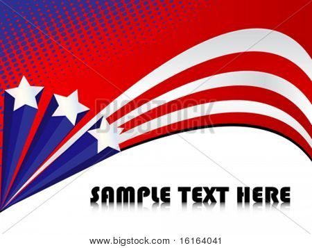 Sample text background with american flag