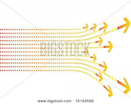 Colorful arrows background vector illustration