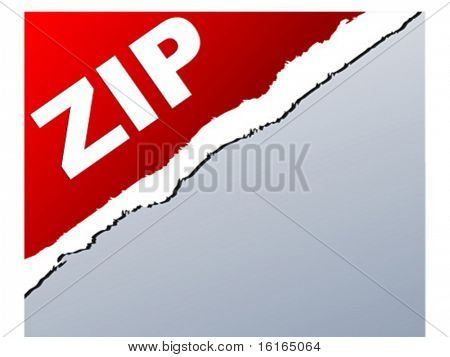 Extension of .zip files vector illustration