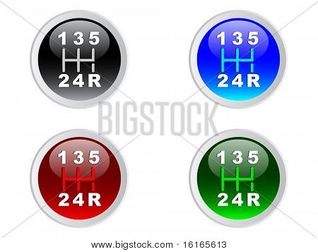 (raster image of vector) Four lever speed