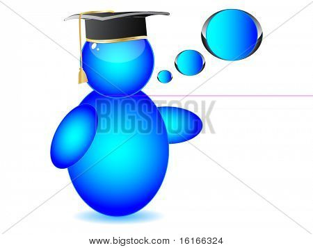 (raster image of vector) Graduation cap on Buddy icon