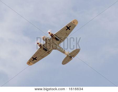Heinkel 111 Model In Flight