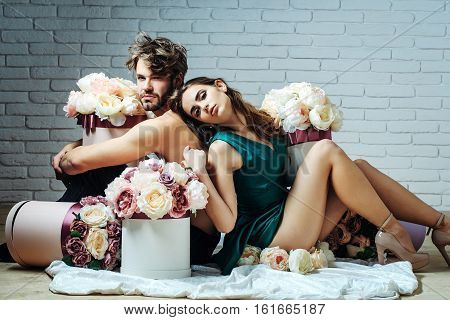 Sexy Couple Lovers On Floor