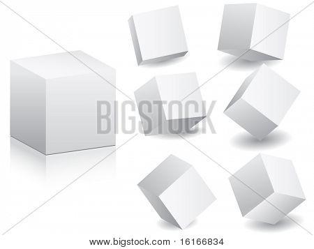 blanco (imagen raster de vector) cajas en ilustración del vector de posición diferente