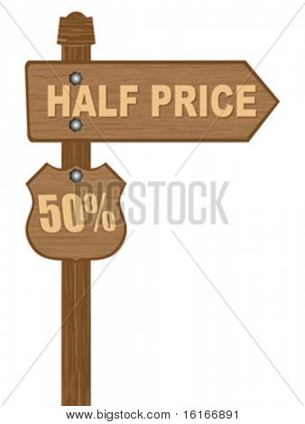 advertising banner for sales half price