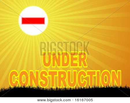 under construction background