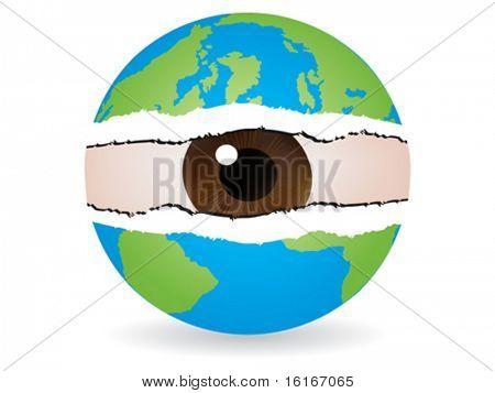 spy the world vector illustration