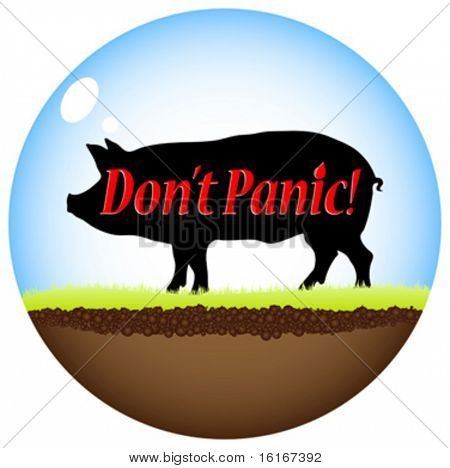 Swine flu virus isolated vector illustration