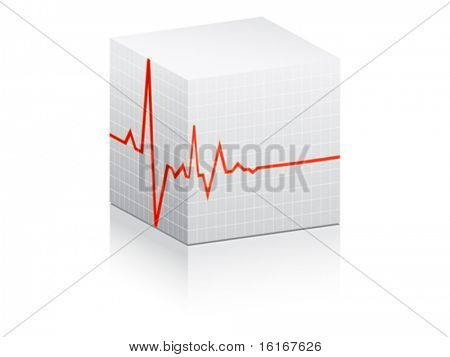 heart pulse illustration on white box