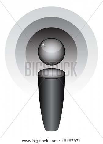 (raster image of vector) podcast icon