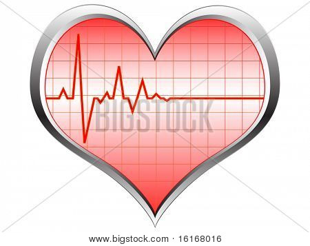 (raster image of vector) heart pulse