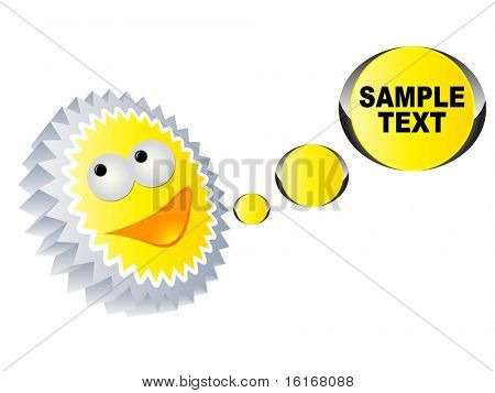(raster image of vector) Happy icon made a conversation