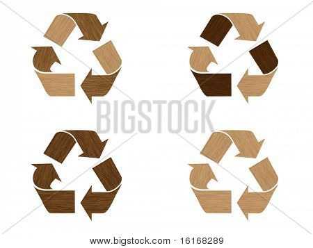 (raster image of vector) Recycling symbols