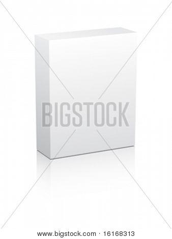 white box vector illustration