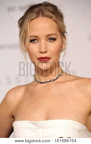 Jennifer Lawrence at the Los Angeles premiere of 'Passengers' held at the Regency Village Theatre in Westwood, USA on December 14, 2016.