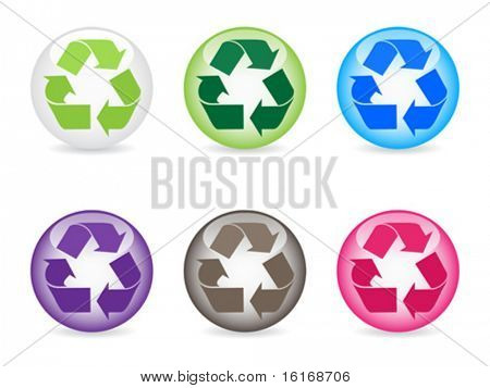 recycling icons different colors vector illustration