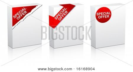 special offer white box vector illustration