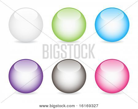 (raster image of vector) shiny web buttons different colors
