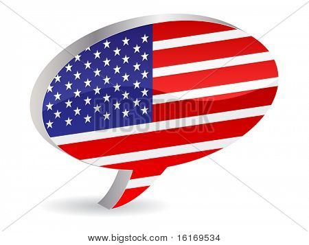 (raster image of vector) american icon