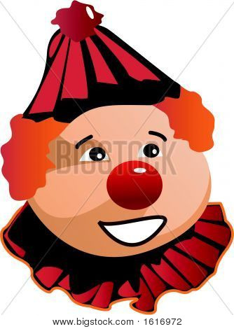 Smiling Clown In Black