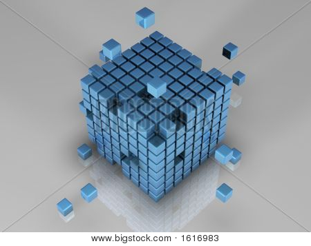 512 Blue Cubes