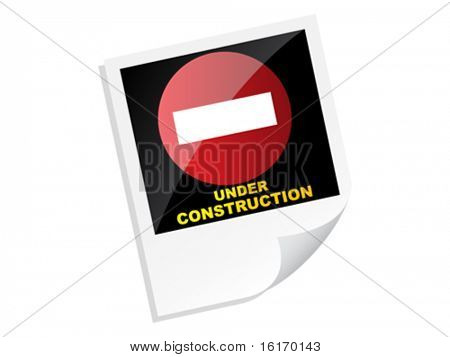 under construction banner vector illustration