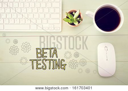 Beta Testing Concept With Workstation
