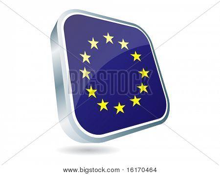 (raster image of vector) european flag icon