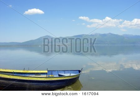 Boat And Prespa Lake