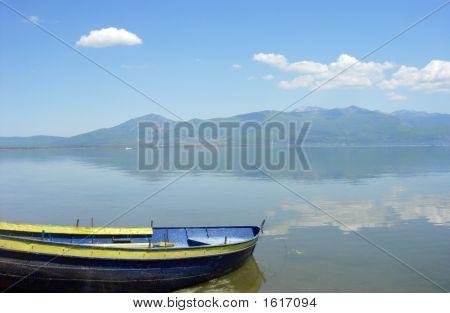 Boat And Prespa Lake
