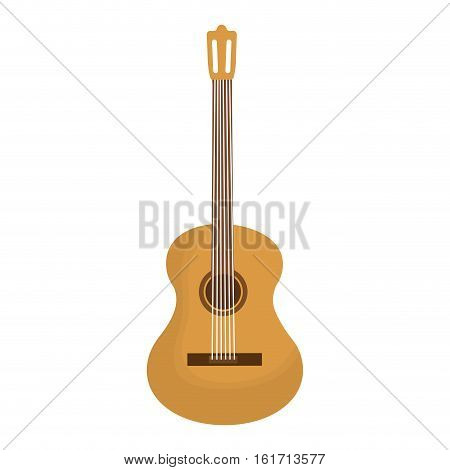 acoustic guitar icon image vector illustration design