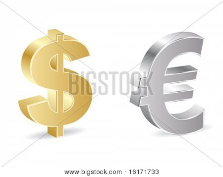 dollar and euro icon