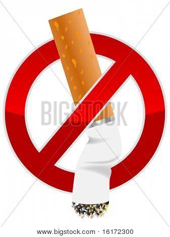 (raster image of vector) Cigarette butt