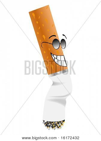 (raster image of vector) Cigarette butt