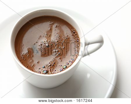 Turkish Coffee Over The White Background