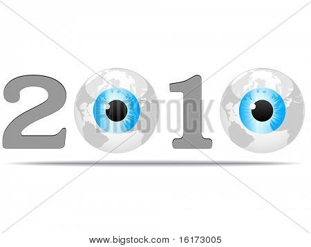 (raster image of vector) year 2010