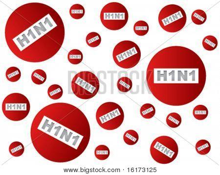 Forbidden swine flu background vector illustration