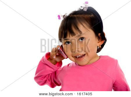Cute Girl On The Phone