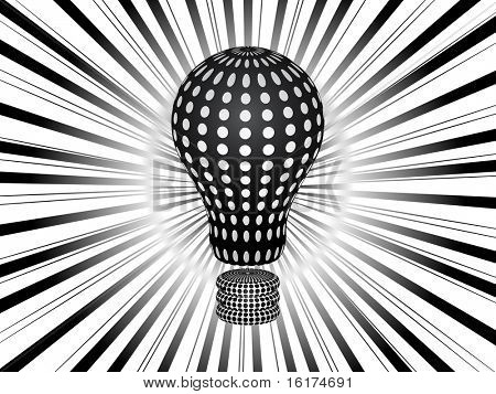 (raster image of vector) light bulb background