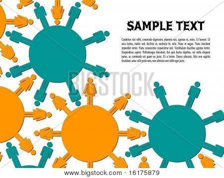 (raster image of vector) communication of people