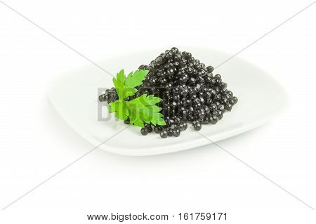 Beluga roe isolated on a white background with clipping path